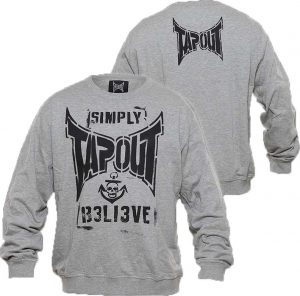 Tapout Combat Stencil Sweat Shirt- Grey 7fe3ded82fe98